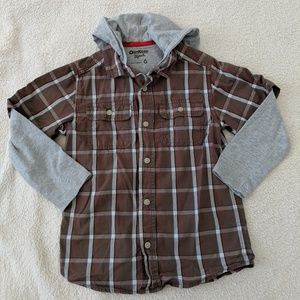 Hooded Button Down Shirt